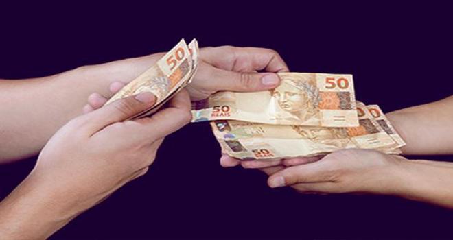 DME pagamento-dinheiro