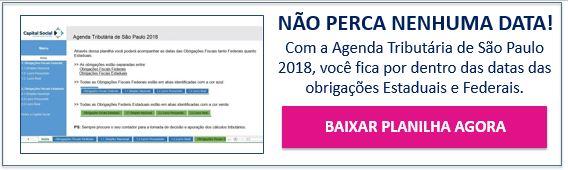 Botão para download da Agenda Tributária de São Paulo 2018