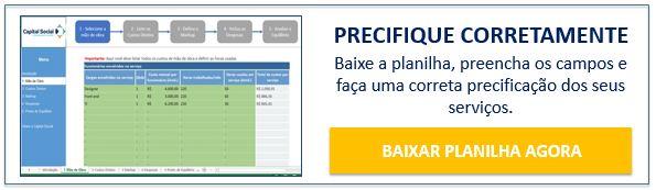 Botão para download da planilha de precificação de serviços