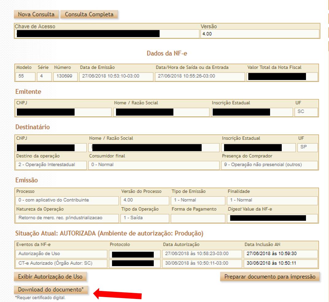 Documentos Fiscais - XML