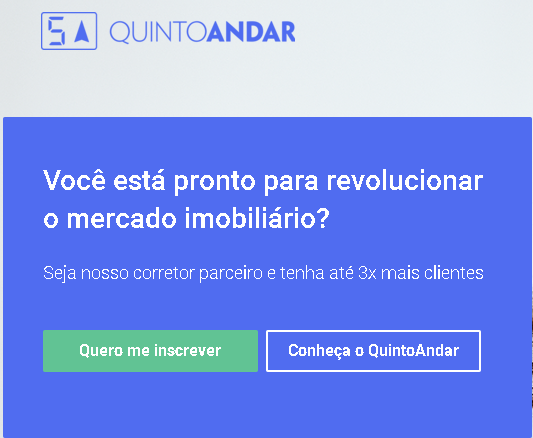 Call to Action - Site do Quinto Andar